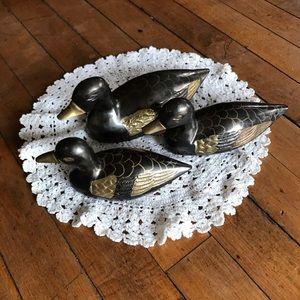 3 Brass ducks